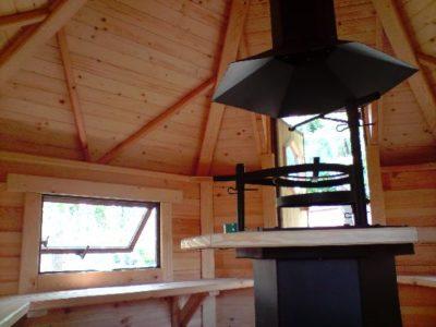 wnętrze domku grillowego 9 m