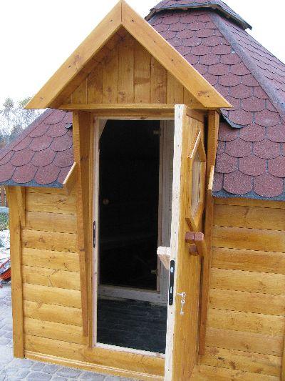 sauna z przedsionkiem