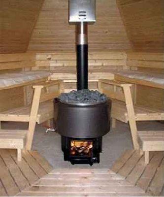 wnętrze sauny ogrodowej 9 m