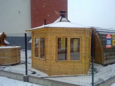 altana ogrodowa całoroczna zima